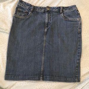 H&M denim pencil skirt blue